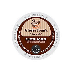 Gloria Jeans Coffee Butter Toffee K Cups 24 Count TEJ