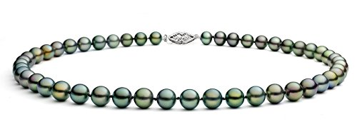 Peacock Freshwater Cultured Pearl Necklace AA+ Quality Sterling Silver Clasp (6-6.5mm), 17""