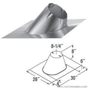 DURAVENT 6DT-F12L DuraTech Large Base Adjustable Roof Flashing 7/12 - 12/12 (Large Base Adjustable Roof)