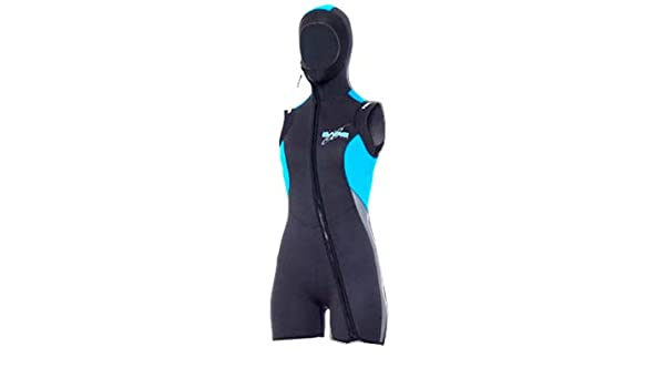 35bca14429 Amazon.com   Bare Women s 7mm Velocity Step-in Hooded Vest for Scuba Diving    Sports   Outdoors