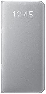 Samsung Galaxy S8+ LED View Wallet Case, Silver