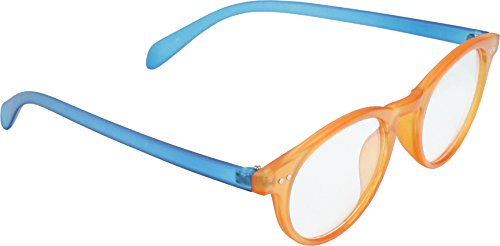 Anti Reflective Computer Glasses Block Blue Light and UV with Clear Lens for Kids and Teens - School Boy and Girl Style - Blue and Orange with 2 in 1 - Glasses Lens Light Orange Blue Block
