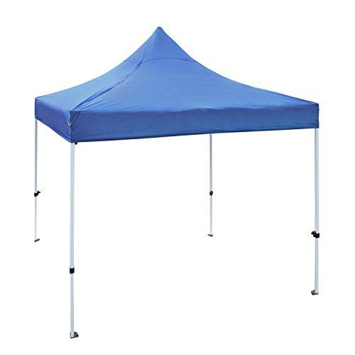 Gazebo Foldable (ALEKO GZF10X10BL Foldable Popup Polyester Gazebo Canopy Patio Coffee Shelter 10 x 10 Feet Blue)