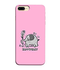 ColorKing Apple iPhone 8 Plus Case Shell Cover - Happyphant 004 Multi Color