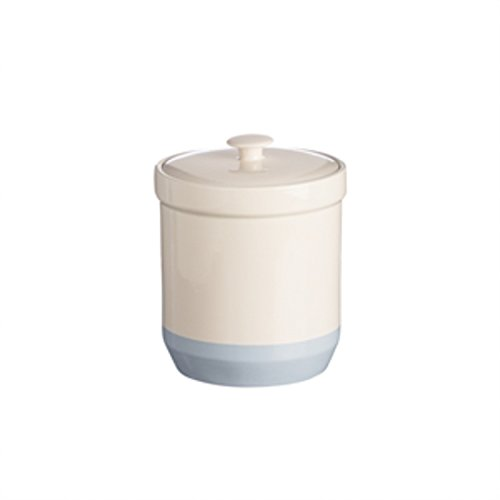 Mason Cash Bakewell Stoneware Sugar Jar, 100-Fluid Ounces, Cream, Blue 3 Quart Stoneware Baker