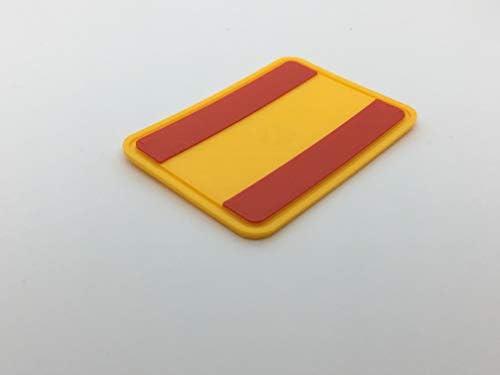 Parche Parche Logo Flexible Impreso 3D, cucibile, Adhesiva, magnética, Bandera España - Dim 6,5 X 4,5 cm - réplica: Amazon.es: Hogar