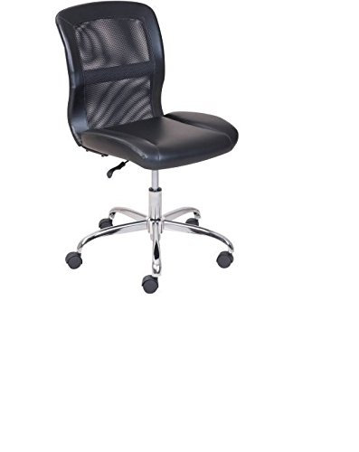 Mainstays Vinyl Mesh Executive Armless Back Office Computer