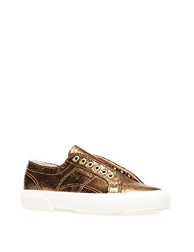 SUPERGA Women in Sneakers 2750 Gold Yellow Syncrackleatherw 4TOF4zxrnq