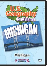 MICHIGAN (U.S. Geography for Children) Schlessinger DVD with public performance rights