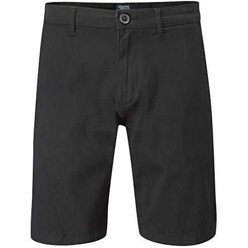 (Charles Wilson Men's Comfort Stretch Chino Shorts (Black, 28