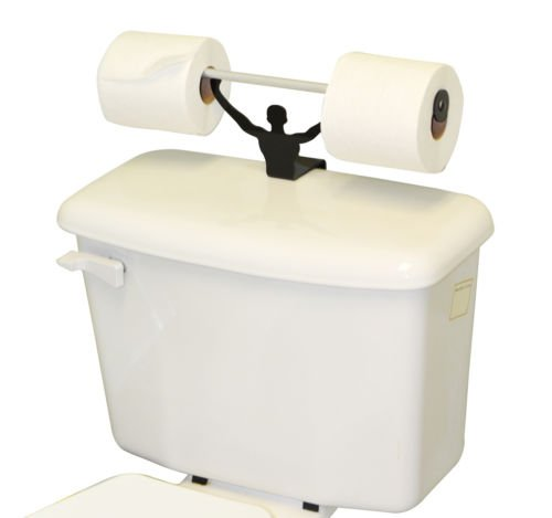NEW Strong Man Funny Bathroom Toilet Paper Tissue Roll Holder Weightlifter Novelty