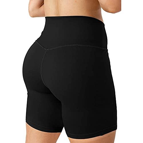 Ymibull Women's Workout Leggings Fitness Sports Running Yoga Athletic Short Pants, High Waist Yoga Pants, Control Yoga Tights(Black,XL)