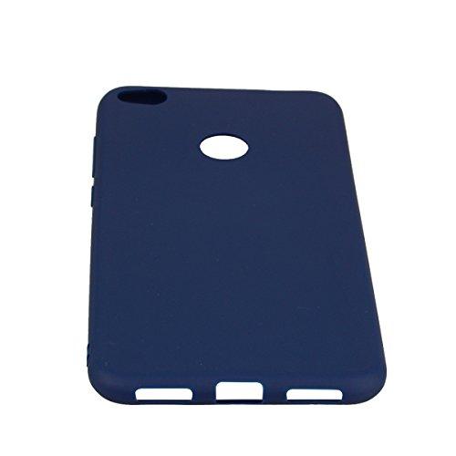 Funda Huawei P8 Lite 2017, E-Lush Suave Silicona TPU Carcasa Ultra Delgado Flexible Gel Parachoques Goma Mate Opaco Case Cover Amortigua Golpes Protectiva Caso para Huawei P8 Lite 2017 (5.2 Pulgadas)  Azul Marino