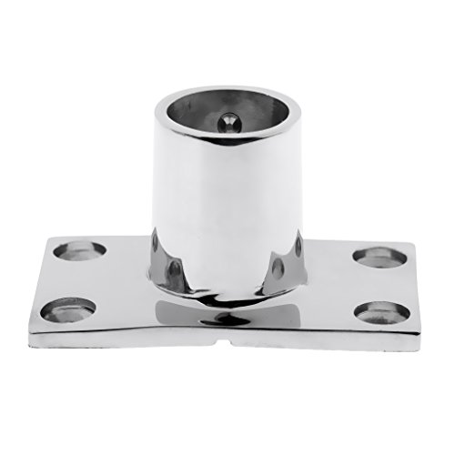D DOLITY Marine 316 Stainless Steel Boat Deck Hand Rail Fitting 90 Degree Rectangular Base for Pipes Tubes 22mm/25mm - 22mm ()