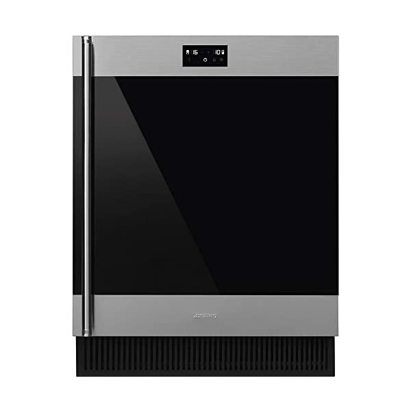 Smeg CVIU338RX Classic Series Built-In Under Counter Wine Cooler 24-Inches with 38 Bottle Capacity, 5 Extension Wine… 1