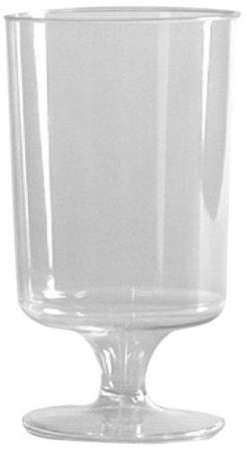 Comet 2-Piece Plastic Pedestal Glass, 5.75-Ounce, Clear (500-Count)