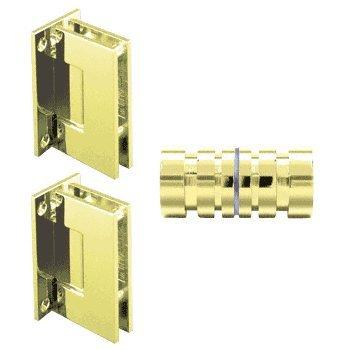 CRL Brass Geneva Shower Knob and Hinge Set