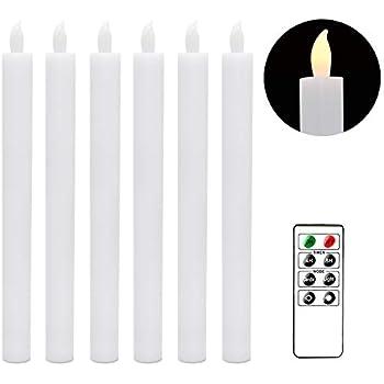 Amazon.com: Flameless Advent Candle Set 4-Piece LED Advent ...