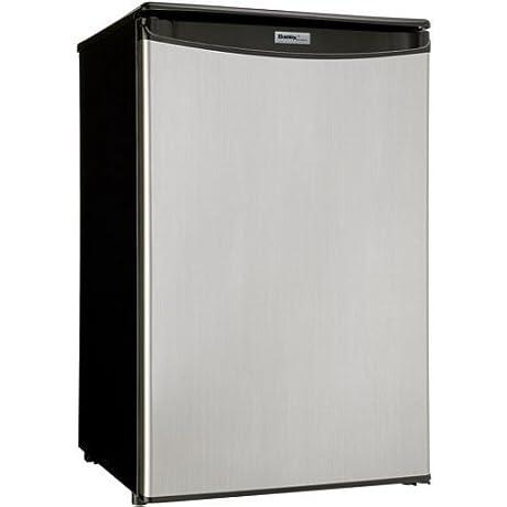 Danby Designer DAR044A5BSLDD 4 4 Cu Ft Automatic Defrost Compact All Refrigerator 120 Volts Spotless Silver