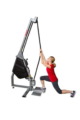 Marpo Kinetics VLT  Functional Rope Trainer with Removable Seat, White/Burgundy