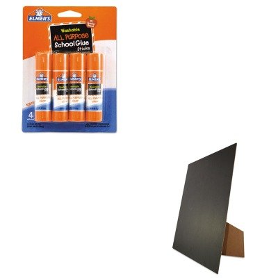 KITEPIE542GEO27119 - Value Kit - Geographics Easel Backed Board (GEO27119) and Elmer's Washable All Purpose School Glue Sticks (EPIE542) All Purpose Easel