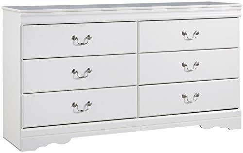 Mission Style Dresser Mirror - Ashley Furniture Signature Design - Anarasia Dresser - White