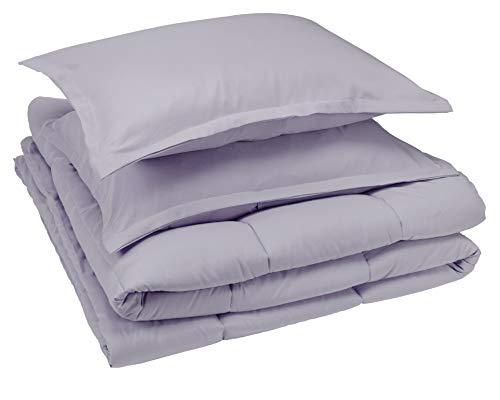 AmazonBasics Comforter Set, King, Dark Grey, Microfiber, Ultra-Soft (Sets Comforter Complete)
