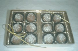 - Rum Filled Milk Chocolate Flavoured Truffles Gift Box (12 Pcs)