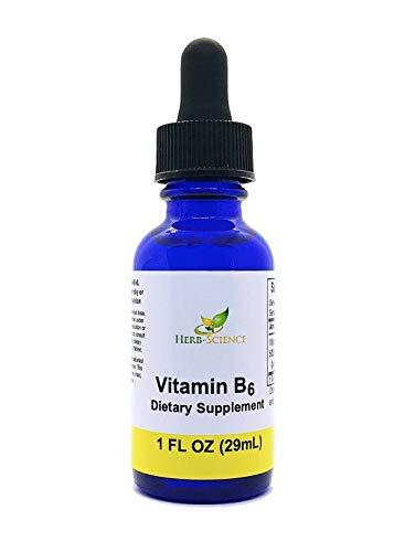 Liquid Vitamin B6 Extract, Alcohol Free, 1 oz - Herb-Science