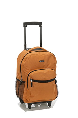 Rockland Luggage 17 Inch Rolling Backpack, Orange, One Size (School Luggage)