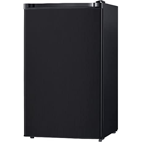 Midea WHS 160RB1 Compact Single Reversible Door Refrigerator And Freezer 4 4 Cubic Feet Black