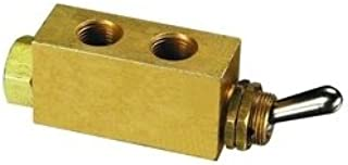 "product image for Clippard MJTV-3 3-Way Toggle Valve, Enp Steel Toggle, 1/8"" NPT"