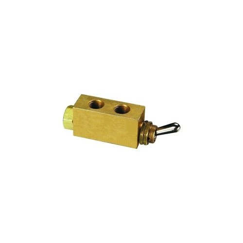 Clippard M-MJTV-3 3-Way Toggle Valve, Enp Steel Toggle, G1/8 by clippard