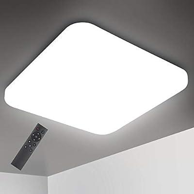 Oeegoo Lámpara de Techo Regulable, LED Plafón 24W 1680LM para Dormitorio Cocina Sala de Estar Comedor Balcón Pasillo RA>80 (Color de Luz Regulable 3000K a 6000K, Brillo Ajustable 10% a 100%): Amazon.es: