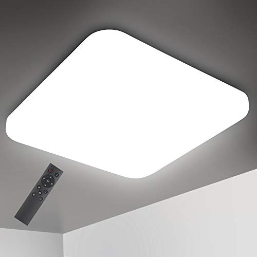 Oeegoo – Regulable Lámpara de techo, LED Plafón 24W 2050LM para Dormitorio Cocina Sala de Estar Comedor Balcón Pasillo…