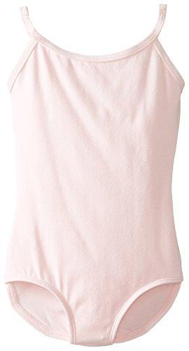 (Clementine Apparel Girls' Big (7-16) Camisole Leotard Cami Top Spaghetti Strap Ballerina Dancewear Costumes, Light Pink, 8-10 )
