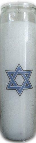 Memorial Yahrzeit Candle - Star Of David