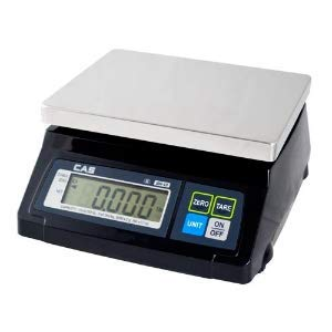 CAS SW-RS (20LB) SW-1RS Series POS Interface Portion Control Scale, 20lb Capacity, 0.01lb Readability