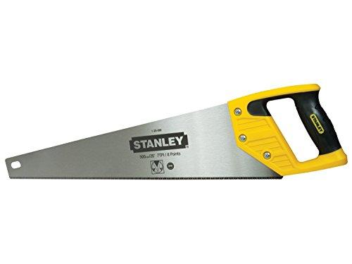 Stanley Handsäge 500mm, ergonomischer Handgriff mit Weichstoffeinsatz, gehärtetes Sägeblatt, 500mm Klingenlänge 1-20-090