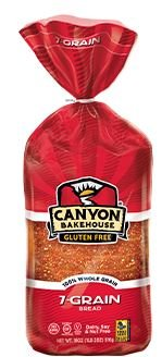 Canyon Bakehouse Gluten Free San Juan 7 Grain Bread 18oz. (Pack of 4)
