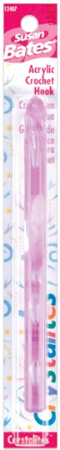 Susan Bates - Aguja de Crochet acrílico Crystallites de 5...