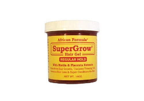African Formula Super Grow Hair Gel Regular Hold 16oz (Genuine African Formula Super Grow Hair Gel)