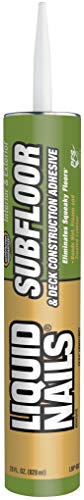 LIQUID NAILS LNP-902 Subfloor & Deck Construction Adhesive (Low VOC) - Liquid Subfloor Nails