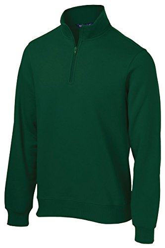 Sport-Tek Men's Big And Tall 1/4-Zip Waistband Sports Sweatshirt,X-Large Tall,Forest Green -