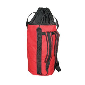 OPG Tall Rope Bag Backpack with drawstring top 30L Red For Sale