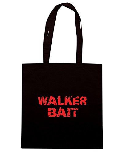 T-Shirtshock - Bolsa para la compra OLDENG00720 walker bait Negro