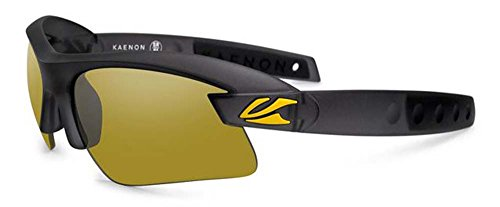 Kaenon Unisex X-Kore Polarized Sunglasses - Graphite/Yellow Y35 / One Size Fits - Kaenon Sunglasses Kore