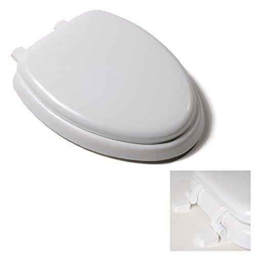 Deluxe White Soft Cushion Toilet Seat - Anti-Microbial