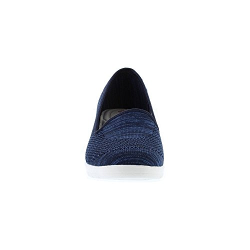 Ladies Feet Size 5 Shoes Heavenly UK Navy Womens Navy Wedge Carnation da4xqOt