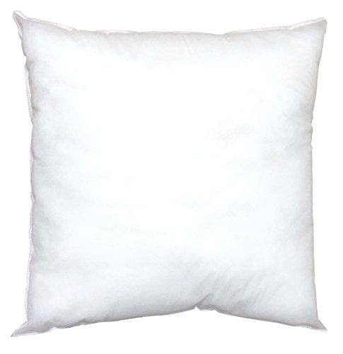 Pillowflex Indoor / Outdoor Non-woven Pillow Form Insert for Shams or Decorative Pillow Covers (12 Inch By 12 Inch)